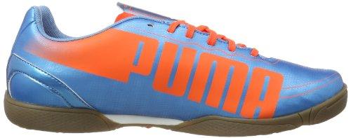 Puma evoSPEED 5.2 IT 102879 Herren Fußballschuhe Blau (sharks blue-fluro peach-fluro yellow 04)