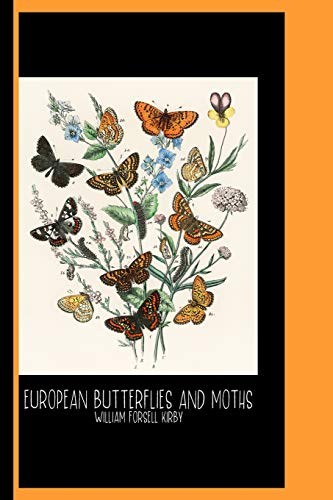 Illustrations from the Book European Butterflies and Moths by William Forsell Kirby (1882) : Sketch Book: Kaleidoscope of Fluttering Butterflies and Caterpillars / Gallery and Museum Art -
