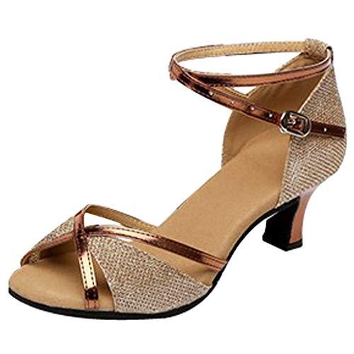 Leather Square Toe Mokassins (Louis-XV Absatz Frauen Rumba Waltz Prom Ballsaal Latin Salsa Tanzschuhe Square Dance Schuhe)