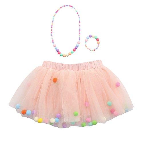 Amphia - Kinder Carnival Tutu - Mesh Rock - Tutu Rock - 3 Stücke Hohe Qualität Baby Mädchen Kinder Tutu Ballett Röcke + Armband +...