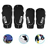 BLLJQ Ginocchiere Sportive Protezioni per Le Gomitiere della Protezione Snowboard Skateboard Protezione Attrezzatura Anti-Caduta Traspirante,M