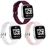 Zekapu Bracelet pour Fitbit Versa/Fitbit Versa 2/Versa Lite, Doux Silicone Étroit Svelte Remplacement Sport Bracelet pour Fitbit Versa/Fitbit Versa 2 Montre Intelligente, Femme Homme, Petit