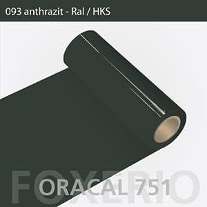 Your Design  Klebefolie - Oracal 751- 63cm Rolle - 10m (Laufmeter) - Anthrazit   glanz   Autofolie - Möbelfolie - Selbstklebend , 093-ath-751-63cm-10m