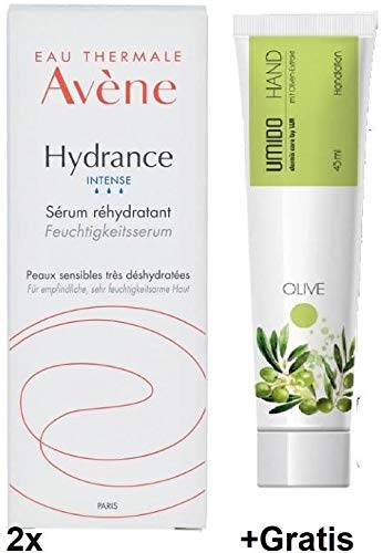 2x 30ml Avène Hydrance Intense Feuchtigkeitsserum +45ml Oliven-Handlotion