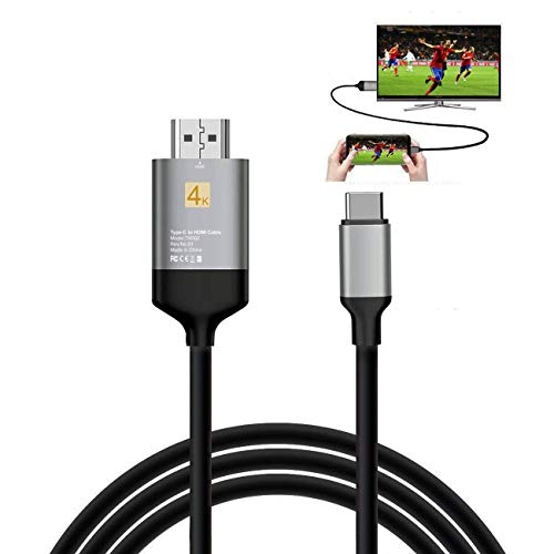 DUTISON USB C a HDMI Cavo (4K@60Hz) Compatible con Samsung Galaxy S8/S9/S8+/S9+/Note8/ Note9, Huawei Mate 10/10 Pro/P20/P20 Pro, iPad Pro 2018/ MacBook/ MacBook Pro/ iMac, HP, ASUS - 2m