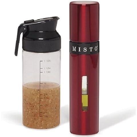 Misto Oil Sprayer & Salad Dressing Shaker-Red by Misto Oil