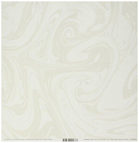 Bazzill mármol cartulina (30,4x 30,4cm Marshmallow