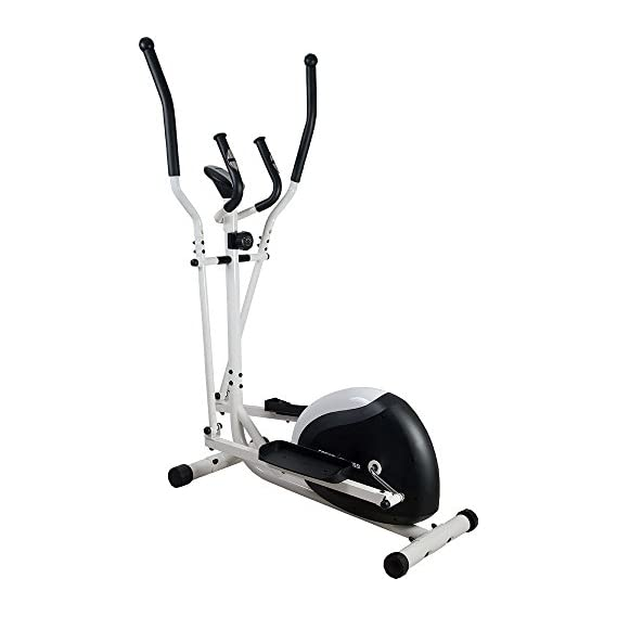 Cosco Exercise Elliptical Cross Trainer Magnetic Exercise Bike, 8 kg (Croyal/Solred/White)