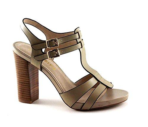 CAFè NOIR MB150 beige scarpe donna sandali tacco fibbie Beige