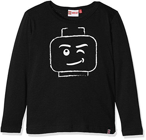 LEGO Wear Jungen Lego Boy Teo 710-Langarmshirt, Schwarz (Black 995), 140 (Langarm-shirt Black Boys)
