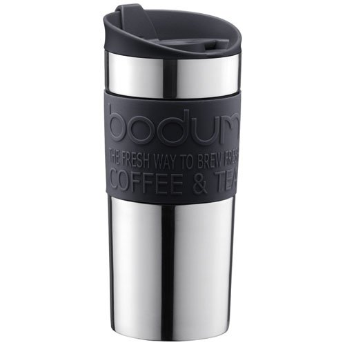 Bodum Vacuum Travel Mug, 0.35 L – Small, Black