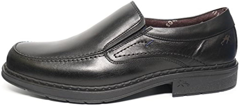 Zapatos hombre tipo mocasín FLUCHOS - Piel color Negro - 9483 - 80 (39, negro)
