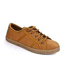 Liberty Gliders by Mens Casual Beige Lacing Shoes (Jumper-E-Beige-Drill_7/41)