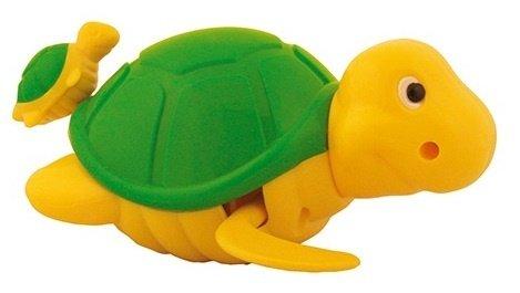 DAM bébés et première infanciajuguetes de bañodamwaterworld : Wind-up 14 cm, Pull String and Watch The Little (4 cm) Paddle After Her Mommy Turtle, in Display, 18 m + Multicolore (Plus d'une)