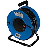 Silverline 934311 - Alargador eléctrico 240 V (50 m, 4 tomas 13 A)