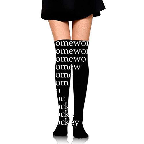 Herren-hockey Compression Legging (quanzhouxuhuixiefu Women Crew Socks Thigh High Over Knee Hockey Dress Legging Casual Compression Stocking 50CM)