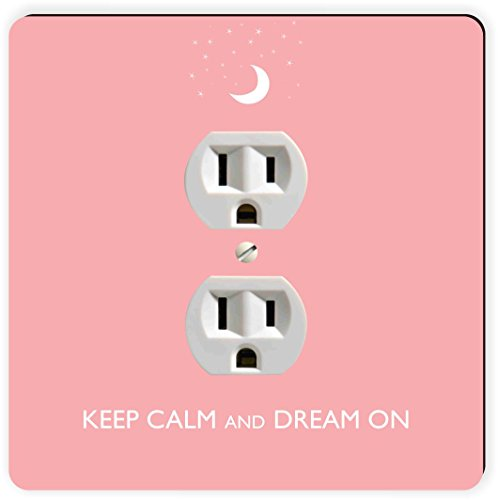 Rikki Knight Keep Calm and Dream on-light Pink Farbe einzigen Steckdose Teller (Wall Plate-nacht-licht)