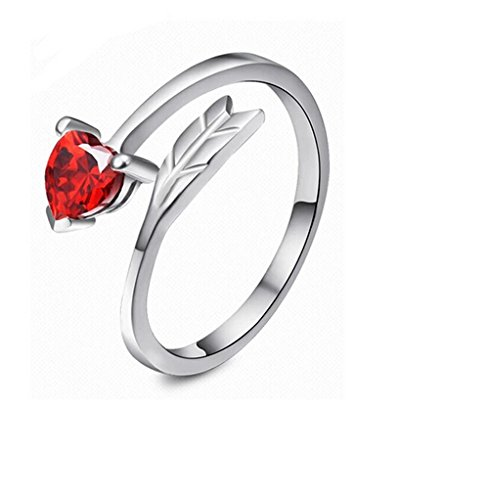 Girlz! Red Platinum Plated Ring For Women|Girls