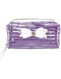 Tukistore Transparent PVC Bowknot Pen case Bolso de Lápiz Bolsa de Embrague de Gran Capacidad Maquillaje
