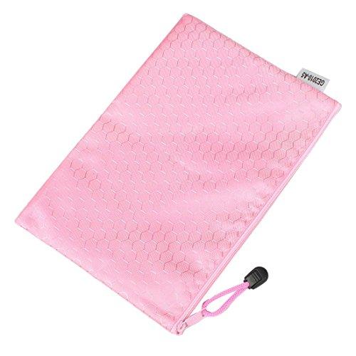 sourcingmap-a5-hex-patrn-agua-archivo-resistente-rosa