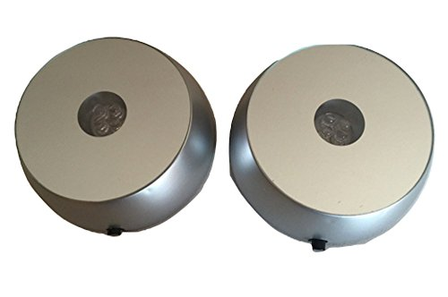 SOCLE à LEDS diamètre 7 cm piles LOT de 2\\