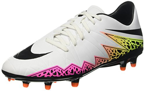 Nike  JR Hypervenom Phelon II FG 749896 108, Herren Fußballschuhe, Blanco (Blanco (White/Black-Total Orange-Volt)), 45 EU / 11 US