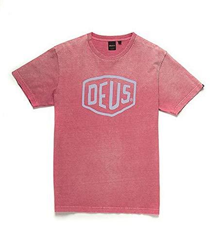 Deus ex machina T-Shirt Sun Bleached Shield Tee raptura Rose (XL) (Deus Machina Ex)