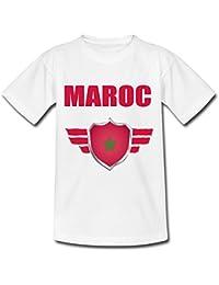 a7ebd1b1e87f8 yonacrea T-Shirt Adulte - Maroc - Coupe du Monde de Football 2018 - Prénom