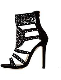 ZHRUI Chaussures à talons hauts pour femmes, pour chaussures de travail  utilitaires Gladiator à plateforme 72fefc08132e