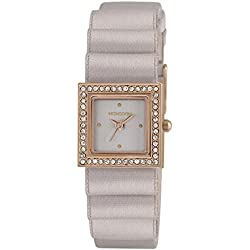 Monsoon Women's Quartz Watch with Grey Dial Analogue Display and Grey PU Strap MO2009