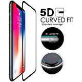Ikazen Dust Proof Curved Edge 5D Full Screen Tempered Glass Screen Protector For Apple IPhone X/10 (Black)