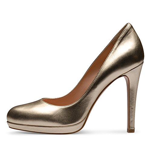 CRISTINA Damen Pumps Glattleder Gold