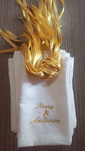 Crociedelizie, Stock 25 sacchettini bomboniere portaconfetti nomi sposi matrimonio promessa