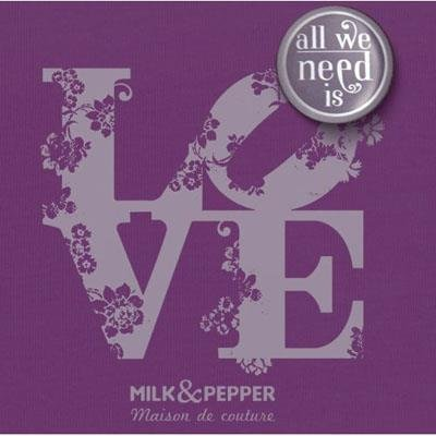 Milk & Pepper – Shirt Milk & Pepper love – Lila, XL - 2
