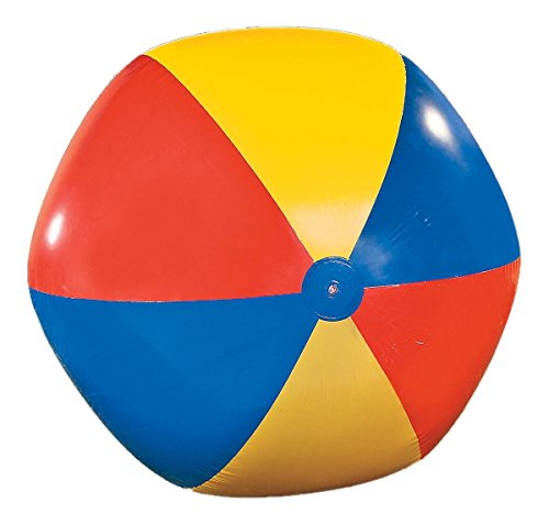 Riesen Wasserball Strandball, PVC Artikel, blau rot gelb, 180 cm