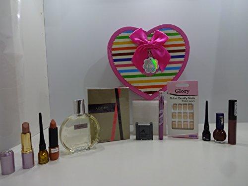 Cadeau de Saint-Valentin ~ Luxe 10pc Parfum et maquillage Beauté Boîte cadeau pour elle. 132.