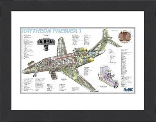 framed-print-of-raytheon-premier-1-cutaway-poster