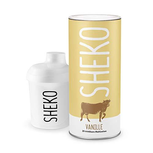 Eiweißpulver Vanille | 25 Portionen inkl. Eiweiß Shaker | Ideal als Mahlzeiten Ersatz oder Diät Shake Vanille | Protein Pancake geeignet -