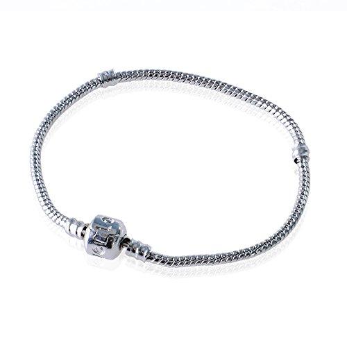 aituo 18–20cm Bracelet Argent pour Charms style Pandora Charms Cadeau européenne