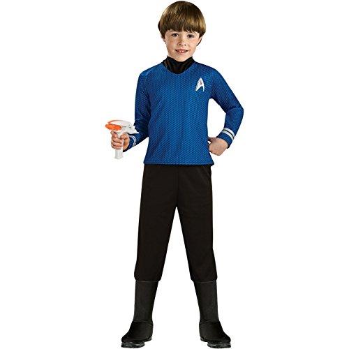 Generique - MR. Spock-Star Trek Kostüm für Kinder Lizenz-Verkleidung blau-schwarz 116 (5-6 Jahre)