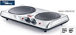 Prestige Electric Stove Radiant Cook top(all utensils friendly ) -PRH 02 SS