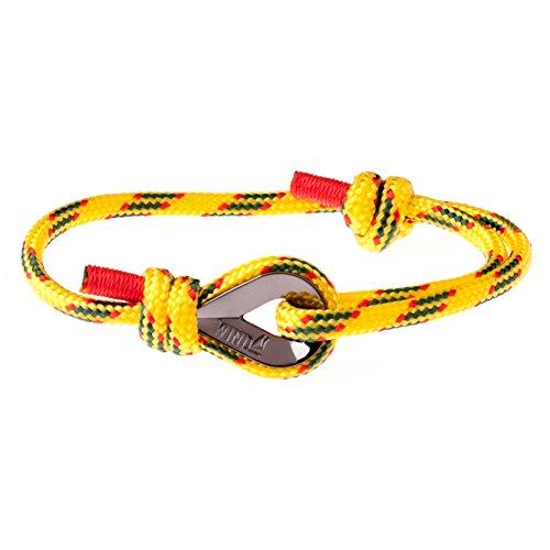 ab08640e1420 Wind Passion Pulsera Amarilla Náutica Marinera de Calidad Comprobada para  Hombre