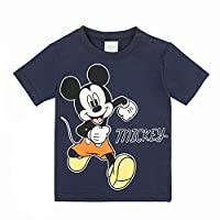 Disney Boy's Mickey Mouse T-Shirt, Blue (Navy Blazer 776), 2 Years