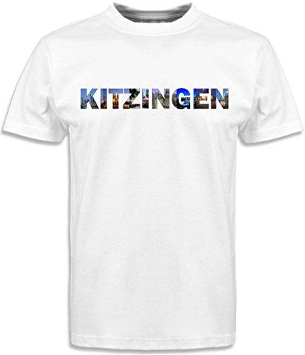T-Shirt mit Städtenamen Kitzingen Weiß