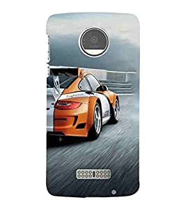 For Moto Z Play :: Motorola Moto Z Play car, car on th way, beautiful car, super car Designer Printed High Quality Smooth Matte Protective Mobile Case Back Pouch Cover by APEX
