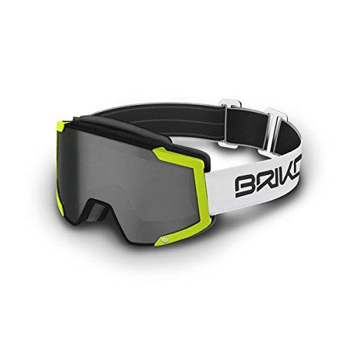 Briko lava fis 7.6, occhiali di protezione unisex – adulto, a45matt/blk/fl/ylw/sm2, taglia unica