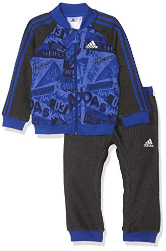 adidas Baby Basketballall Jogger French Terry Trainingsanzug, Hi-Res Collegiate Royal/Dark Blue/Black, 80 -