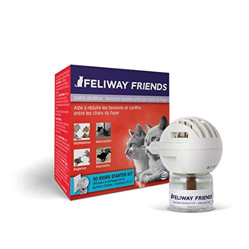 FELIWAY Friends - Anti Conflit pour Chat - Diffuseur + Recharge 48 ml