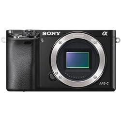 Sony ILCE-6000 Appareil Photo Numérique Hybride, Boitier Nu, Capteur APS-C, 24,3 Mpix, Autofocus Ultra-Rapide - Noir