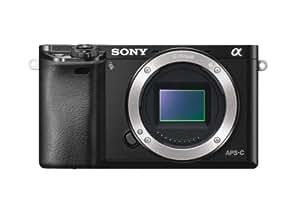 Sony Alpha 6000 Fotocamera Digitale Compatta, Obiettivo Intercambiabile, Sensore APS-C CMOS Exmor HD da 24.3 MP, Nero